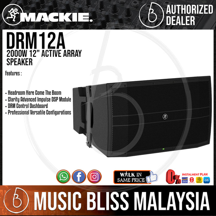 "Mackie DRM12A 2000W 12"" Active Array Speaker (DRM-12A) - Music Bliss Malaysia"