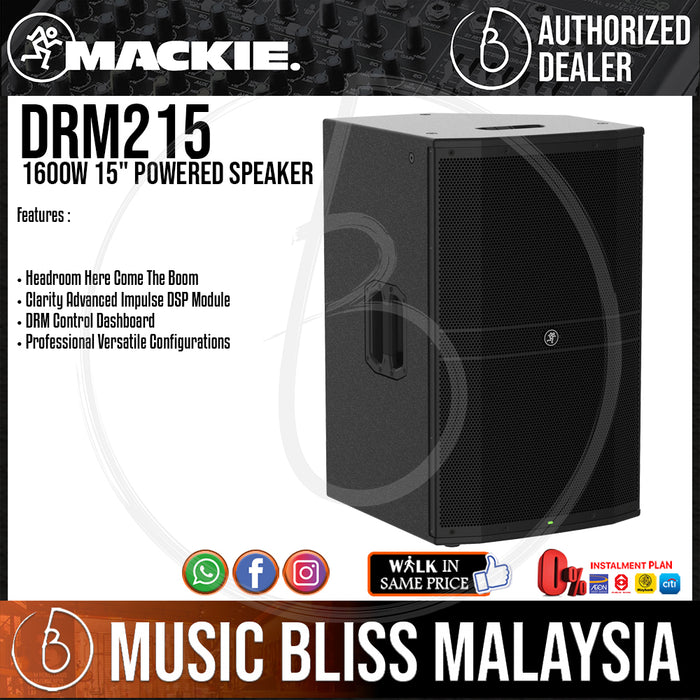 "Mackie DRM215 1600W 15"" Powered Speaker (DRM-215) *CMCO Promotion* - Music Bliss Malaysia"