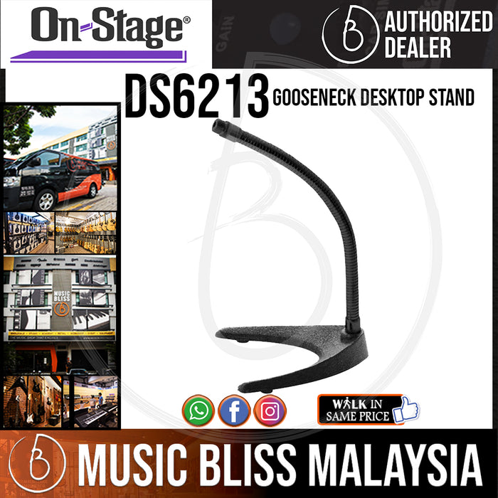On-Stage DS6213 Gooseneck Desktop Stand ( OSS DS6213 ) - Music Bliss Malaysia