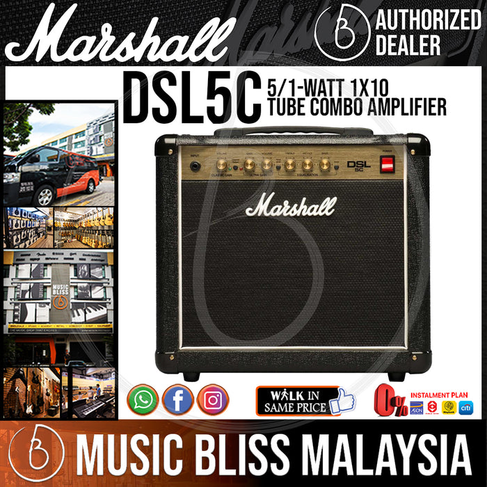 Marshall DSL5C 5/1-watt 1x10 Tube Combo Amplifier - Music Bliss Malaysia