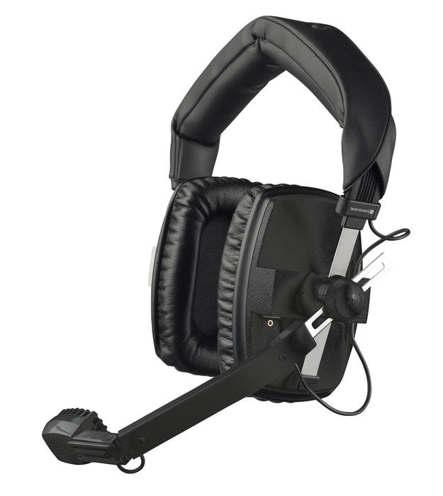 Beyerdynamic DT 109 200 Ohms BLACK Closed Headset with 50 Ohms Dynamic Hypercardioid Microphone for broadcast, camera crew, reporters, with K109.00 Open End Cable (DT-109) (DT109) *Crazy Sales Promotion* - Music Bliss Malaysia