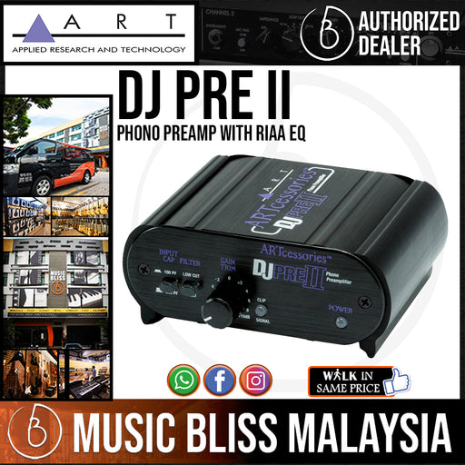 ART DJ PRE II Phono Preamp with RIAA EQ in a Rugged Metal Case (DeeJayPre)
