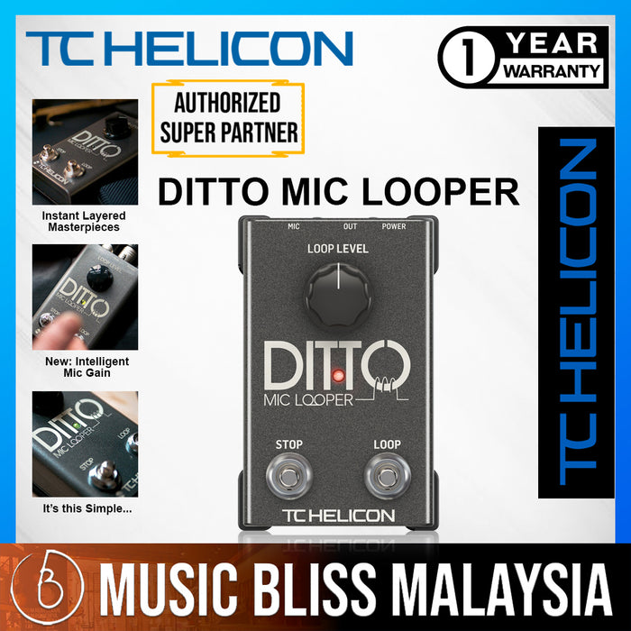 TC-Helicon Ditto Mic Looper - Music Bliss Malaysia