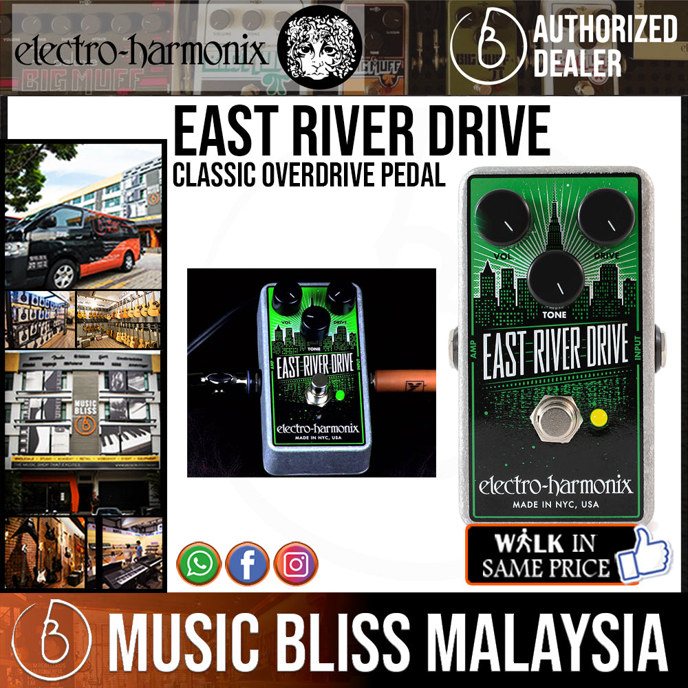 New Electro-Harmonix EHX East River Drive Classic Overdrive Guitar Effects Pedal