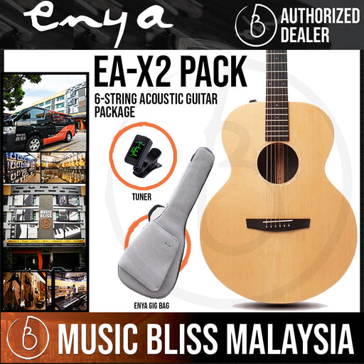 Enya EA-X2 Acoustic Guitar with Gig Bag & Tuner Package (EAX2) - Music Bliss Malaysia
