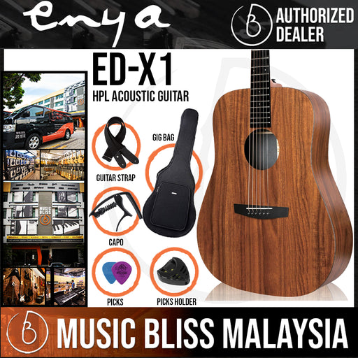 Enya ED-X1 KOA HPL High Pressure Laminated Wood Material Acoustic Guitar (EDX1)
