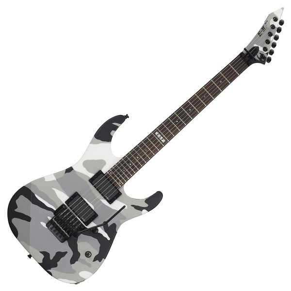 ESP E-II M-II Neck Thru Electric Guitar - Urban Camo [Made in Japan] - Music Bliss Malaysia