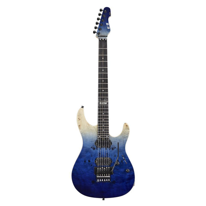 ESP E-II SN-2 - Blue Natural Fade [Made in Japan] - Music Bliss Malaysia