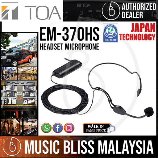 TOA EM-370HS Headset Microphone (EM370HS) *Crazy Sales Promotion* - Music Bliss Malaysia