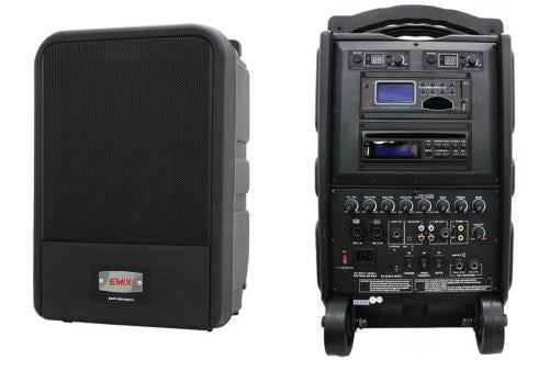 EMIX EMPP-88UDMKIII 100W Portable Amplifier with 1 Wireless Handheld Microphone and 1 Wireless Bodypack (EMPP88UDMKIII / EMPP 88UDMKIII)