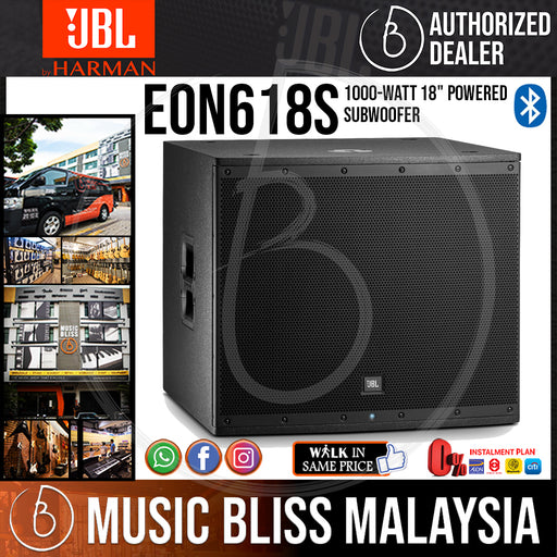 "JBL EON618S 1000-watt 18"" Powered Subwoofer - Music Bliss Malaysia"