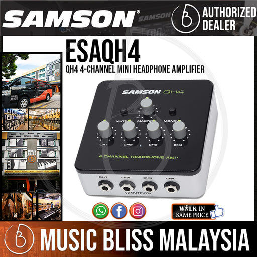 Samson QH4 4-Channel Mini Headphone Amplifier (QH-4) *Crazy Sales Promotion* - Music Bliss Malaysia