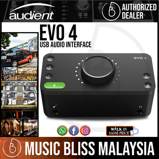 Audient EVO 4 USB Audio Interface (EVO4/EVO-4) *Crazy Sales Promotion* - Music Bliss Malaysia