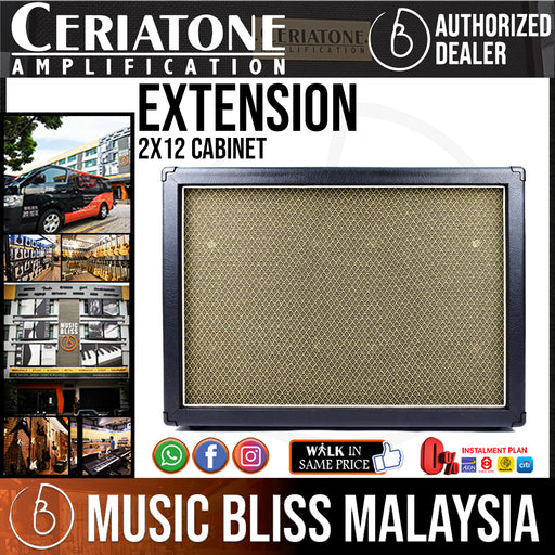 Ceriatone Extension 2x12 Cabinet with WGS ET-65 Speakers - Music Bliss Malaysia