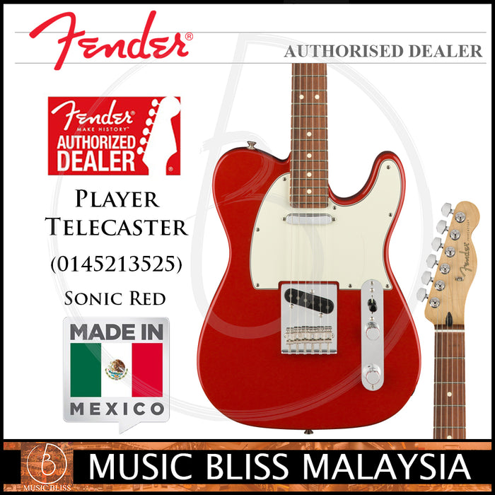 Fender Player Telecaster Electric Guitar, Pau Ferro Fingerboard, Sonic Red (Made in Mexico)