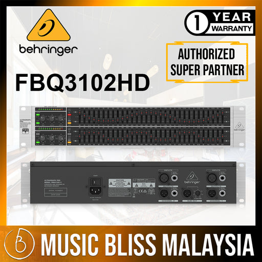 Behringer FBQ3102HD 31-band Stereo Graphic Equalizer (FBQ-3102HD) *Crazy Sales Promotion* - Music Bliss Malaysia