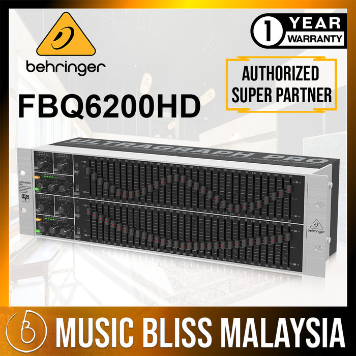 Behringer FBQ6200HD 31-band Stereo Graphic Equalizer (FBQ-6200HD) *Everyday Low Prices Promotion*