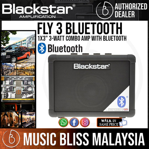 "Blackstar FLY 3 1x3"" 3-watt Combo Amp with Bluetooth (FLY-3 / FLY3) - Music Bliss Malaysia"