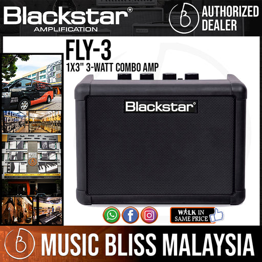 "Blackstar FLY 3 1x3"" 3-watt Combo Amp (FLY-3 / FLY3) - Music Bliss Malaysia"