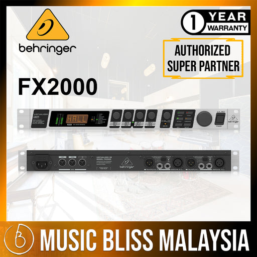 Behringer Virtualizer 3D FX2000 Rackmount Effects Processor (FX-2000) *Crazy Sales Promotion* - Music Bliss Malaysia