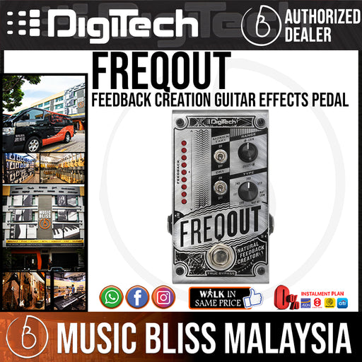 DigiTech FreqOut Feedback Creation Guitar Effects Pedal - Music Bliss Malaysia