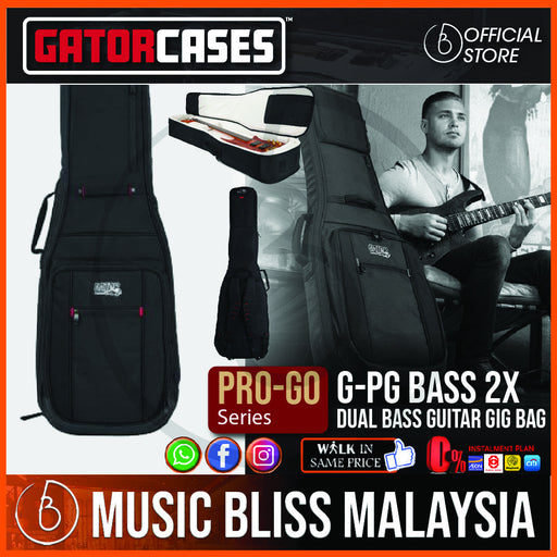 Gator G-PG BASS 2X ProGo Ultimate Gig Bag for 2 Bass Guitars (GPGBASS2X)