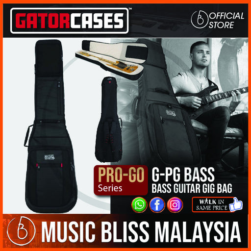 Gator G-PG BASS ProGo Ultimate Gig Bag for Bass Guitar (GPGBASS) - Music Bliss Malaysia