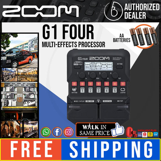 Zoom G1 FOUR Multi-effects Processor (G1FOUR)
