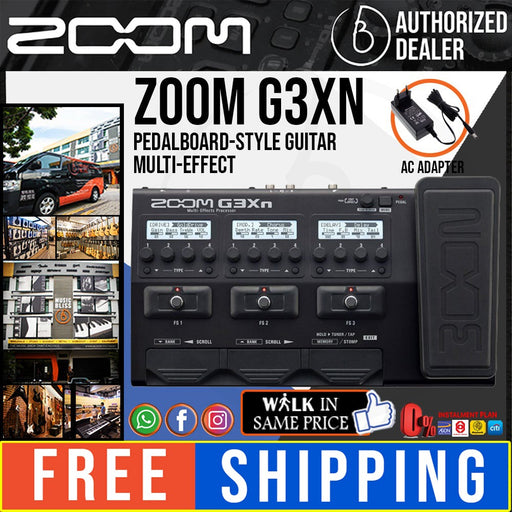 Zoom G3Xn Multi-Effects Processor with 0% Instalment (G3-Xn)