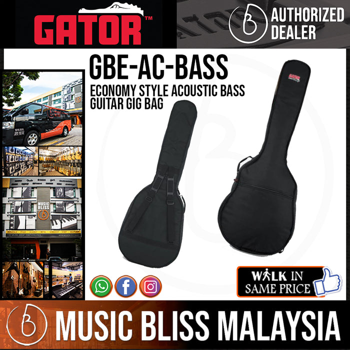 Gator GBE-AC-BASS Economy Style Acoustic Bass Guitar Gig Bag (GBEACBASS)