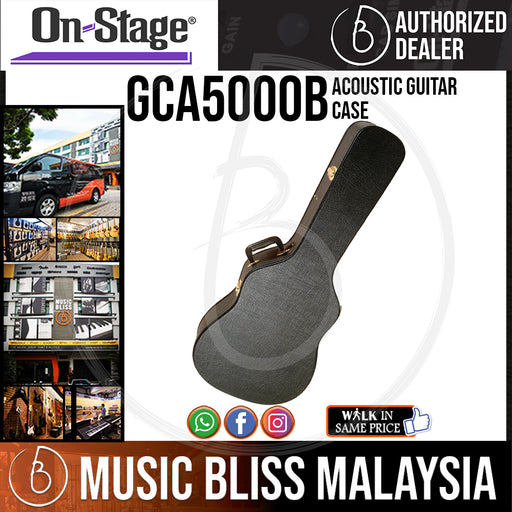 On-Stage GCA5000B Acoustic Guitar Case (OSS GCA5000B) - Music Bliss Malaysia