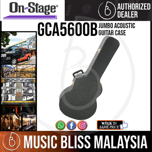On-Stage GCA5600B Jumbo Acoustic Guitar Case (OSS GCA5600B) - Music Bliss Malaysia