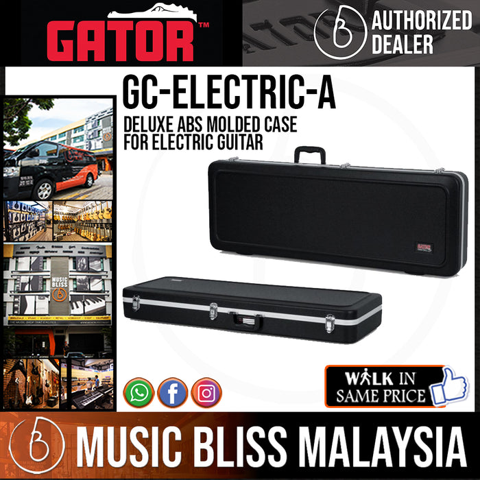 Gator GC-ELECTRIC-A Deluxe ABS Molded Case for Electric Guitar (GCELECTRICA)