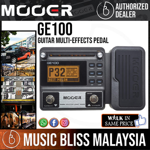 Mooer GE100 Guitar Multi-Effects Pedal (GE-100) *Crazy Sales Promotion* - Music Bliss Malaysia