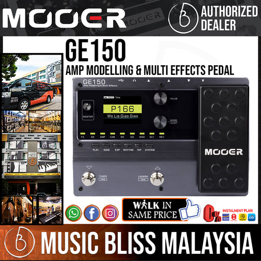 Mooer GE150 Amp Modelling & Multi Effects Pedal (GE-150) - Music Bliss Malaysia