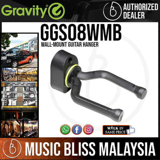 Gravity GS08WMB Wall-Mount Guitar Hanger (GS 08 WMB)