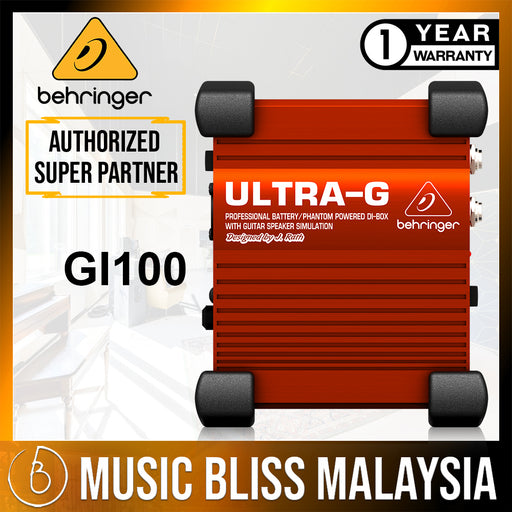 Behringer Ultra-G GI100 1-channel Active Guitar Direct Box (GI-100) *Crazy Sales Promotion* - Music Bliss Malaysia
