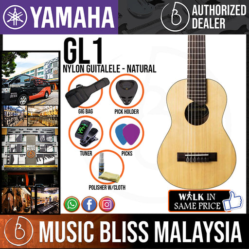 Yamaha GL1 Nylon Guitalele with Gig Bag (GL-1)*Crazy Sales Promotion* - Music Bliss Malaysia
