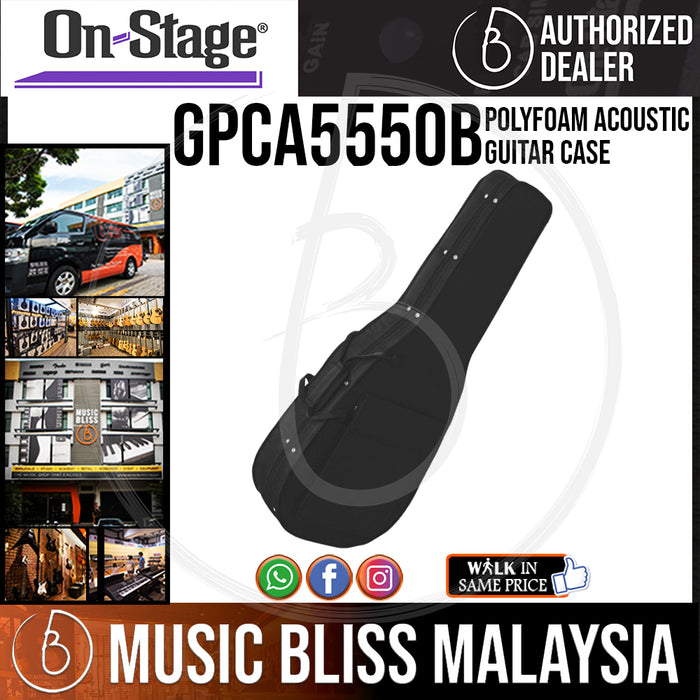 On-Stage GPCA5550B Polyfoam Acoustic Guitar Case (OSS GPCA5550B) - Music Bliss Malaysia