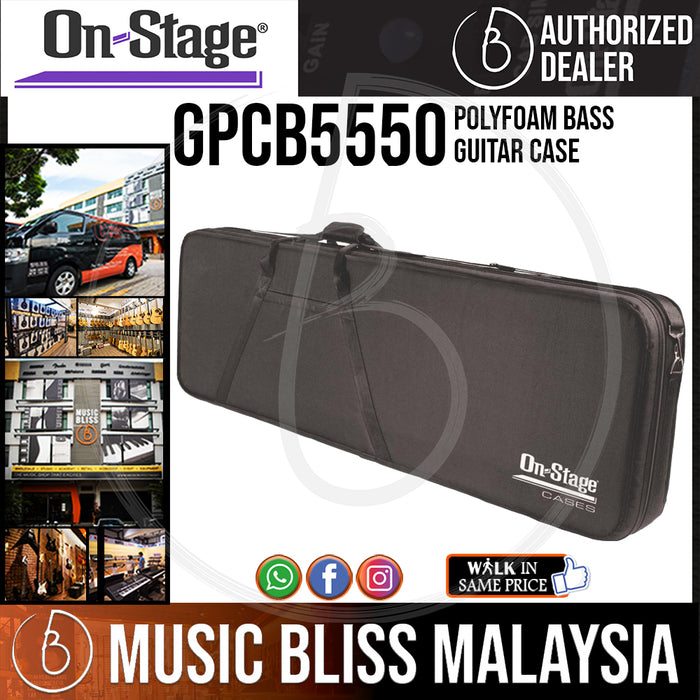 On-Stage GPCB5550 Polyfoam Bass Guitar Case (OSS GPCB5550)