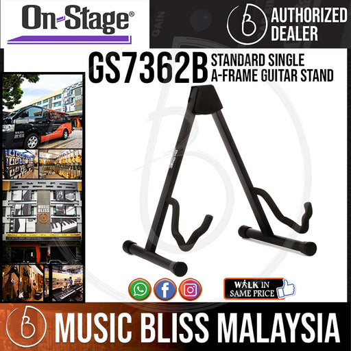 On-Stage GS7362B Standard Single A-Frame Guitar Stand (OSS GS7362B)