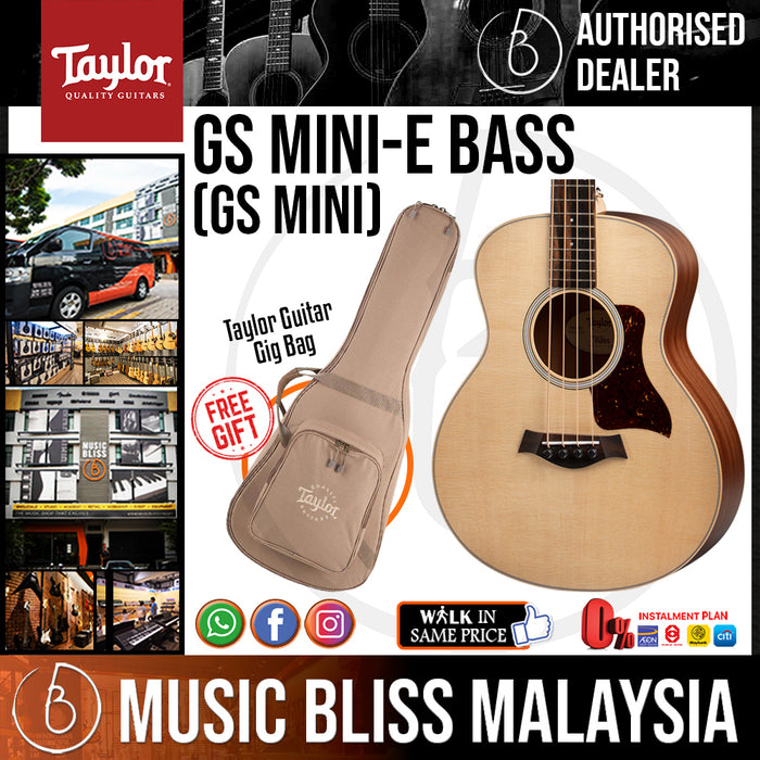 Taylor GS Mini-e Bass - Natural with Bag (GSMINI eBass) *Crazy Sales Promotion*