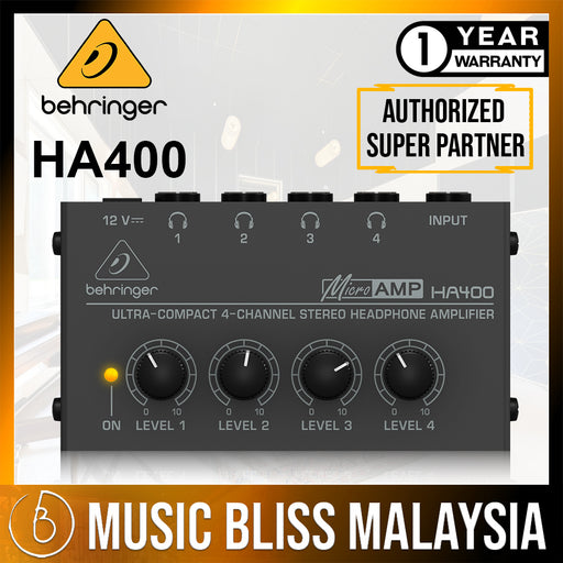 Behringer MicroAMP HA400 4-Channel Headphone Amplifier (HA-400) *Crazy Sales Promotion*