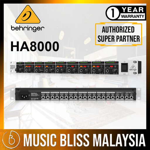 Behringer HA8000 V2 8-Channel Headphone Mixing/Distribution Amplifier (HA-8000V2) *Everyday Low Prices Promotion*