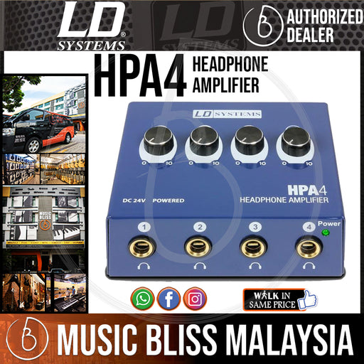 LD Systems HPA4 Headphone Amplifier ( HPA-4 )