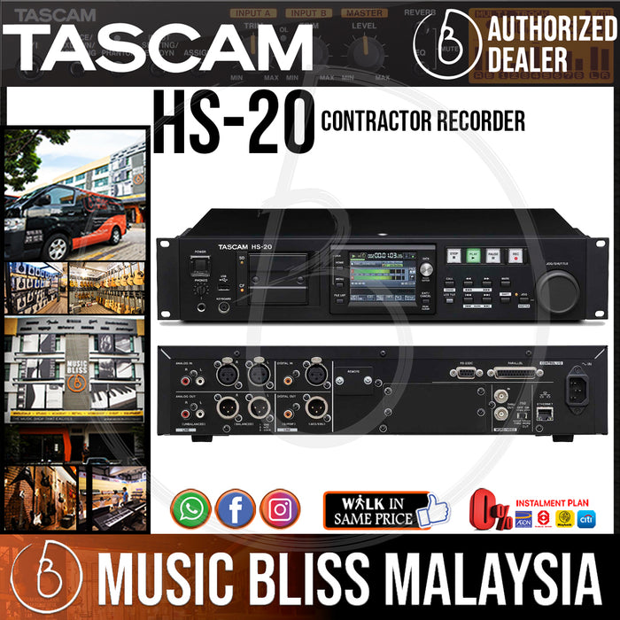 TASCAM HS-20 Contractor Recorder (HS20) - Music Bliss Malaysia