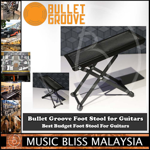 Bullet Groove Foot Stool for Guitars, Guitar Foot Stool, Best Budget Foot Stool For Guitars Malaysia