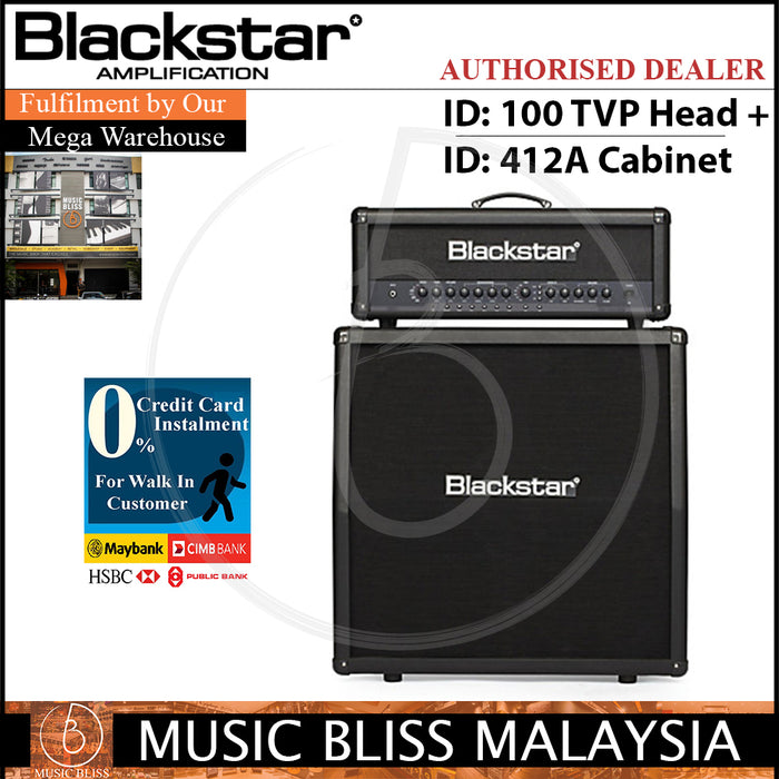 Blackstar ID 100 TVP Head Amp with ID 412A Speaker Guitar Cabinet - Music Bliss Malaysia