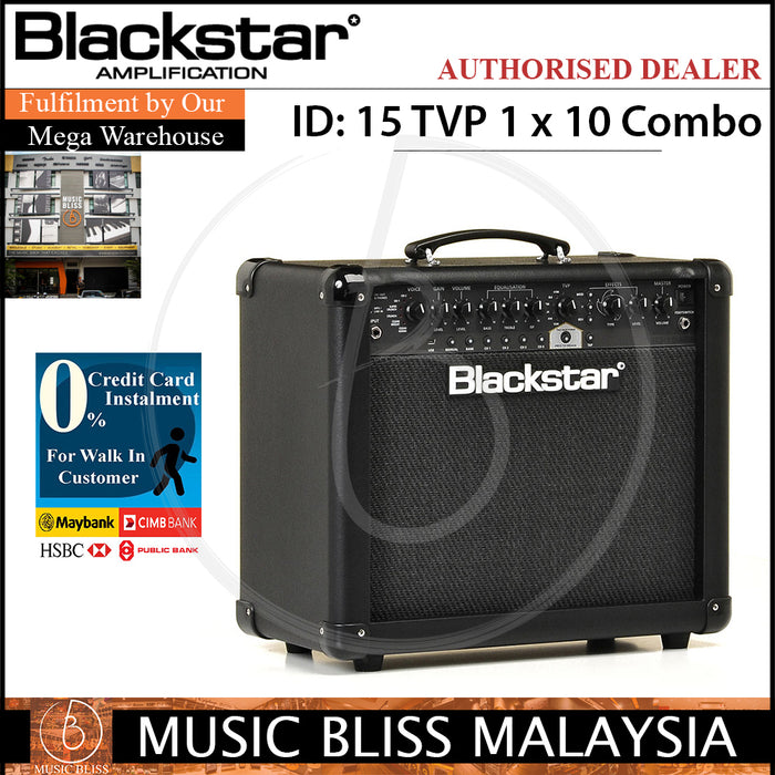 Blackstar ID 15 TVP 1x10 Guitar Amplifier (ID15TVP) - Music Bliss Malaysia