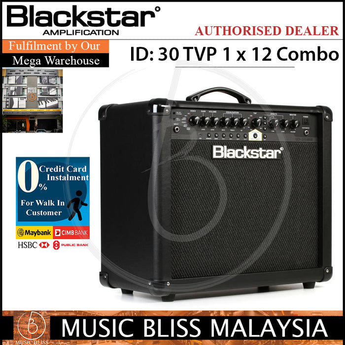 Blackstar ID 30 TVP 1x12 Guitar Amplifier (ID30TVP) - Music Bliss Malaysia
